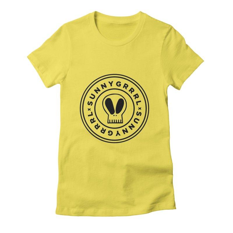 Black SunnyGrrrl Logo Women's T-Shirt by SunnyGrrrl's Merch For Misfits