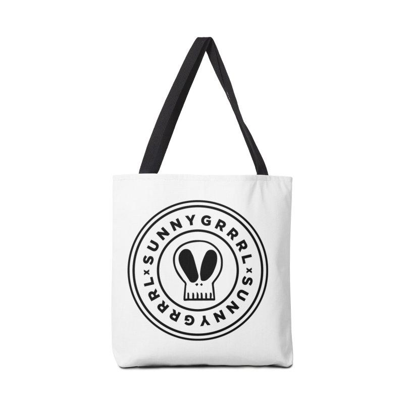 Black SunnyGrrrl Logo Accessories Bag by SunnyGrrrl's Merch For Misfits