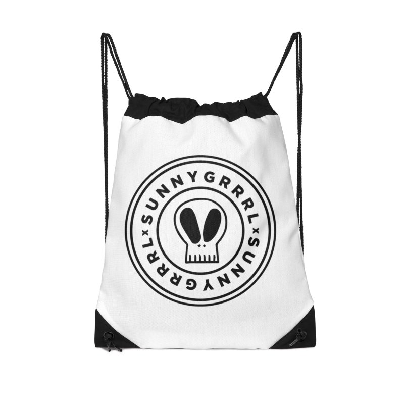 Black SunnyGrrrl Logo Accessories Bag by SunnyGrrrl's Merch For Misfits