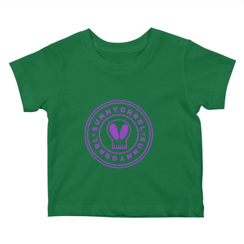 Purple SunnyGrrrl Logo Kids Baby T-Shirt by SunnyGrrrl's Merch For Misfits