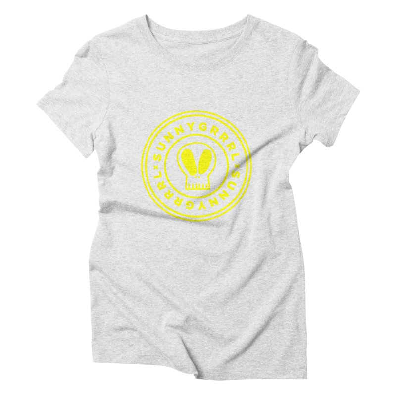 Yellow SunnyGrrrl Logo Women's T-Shirt by SunnyGrrrl's Merch For Misfits