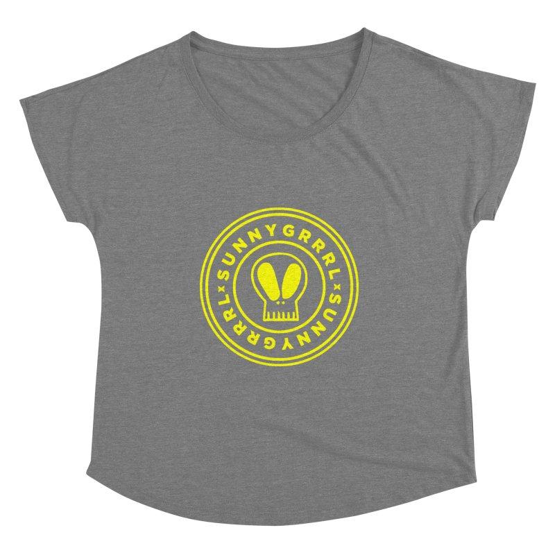 Yellow SunnyGrrrl Logo Women's Scoop Neck by SunnyGrrrl's Merch For Misfits