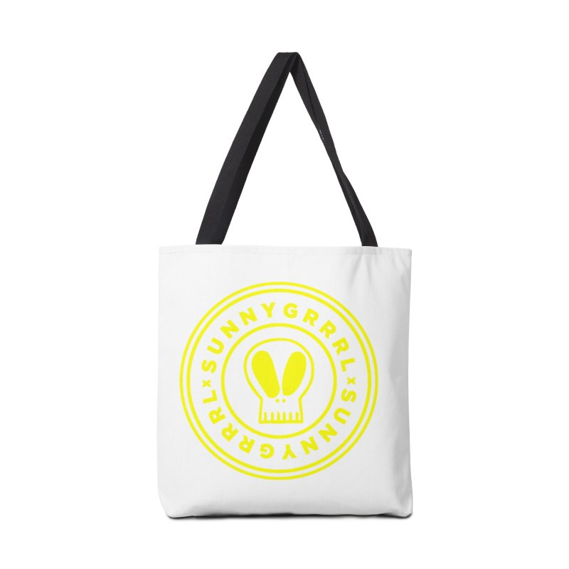 Yellow SunnyGrrrl Logo Accessories Bag by SunnyGrrrl's Merch For Misfits