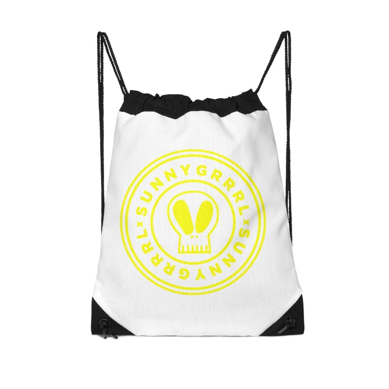 Yellow SunnyGrrrl Logo Accessories Bag by SunnyGrrrl's Merch For Misfits