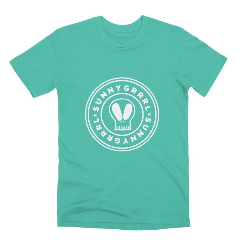 White SunnyGrrrl Logo Men's T-Shirt by SunnyGrrrl's Merch For Misfits