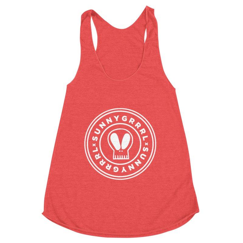 White SunnyGrrrl Logo Women's Tank by SunnyGrrrl's Merch For Misfits