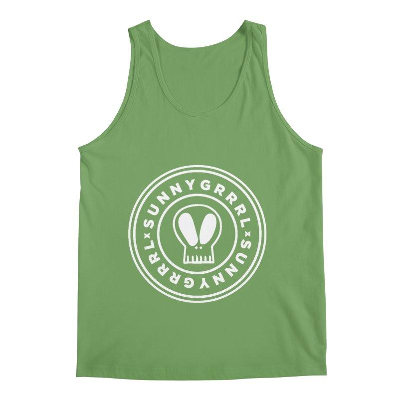 White SunnyGrrrl Logo Men's Tank by SunnyGrrrl's Merch For Misfits
