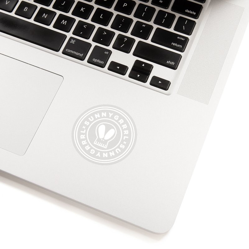 White SunnyGrrrl Logo Accessories Sticker by SunnyGrrrl's Merch For Misfits