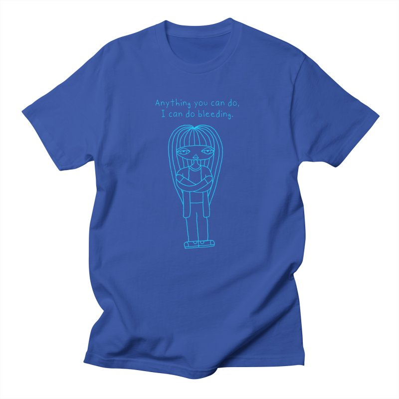 """Anything You Can Do..."" (Aqua) Men's T-Shirt by SunnyGrrrl's Merch For Misfits"
