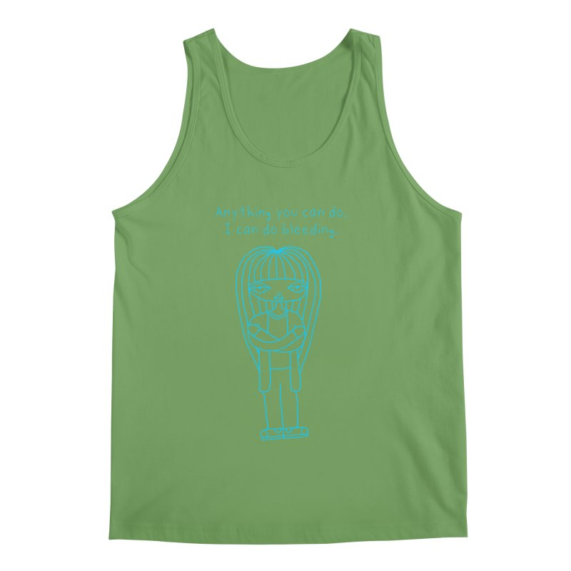 """Anything You Can Do..."" (Aqua) Men's Tank by SunnyGrrrl's Merch For Misfits"