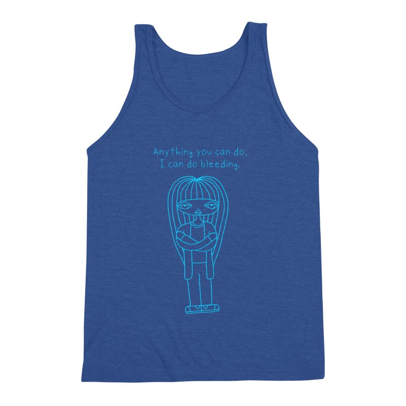 """""""Anything You Can Do..."""" (Aqua) Men's Tank by SunnyGrrrl's Merch For Misfits"""