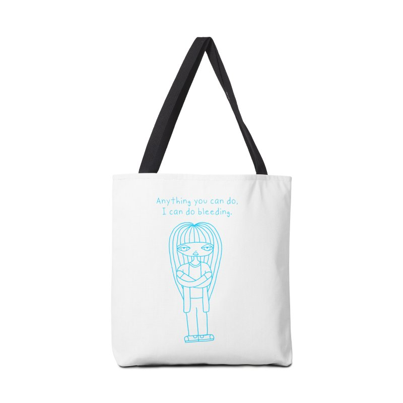 """""""Anything You Can Do..."""" (Aqua) Accessories Bag by SunnyGrrrl's Merch For Misfits"""