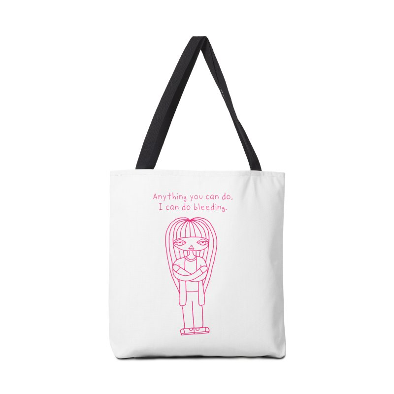"""""""Anything You Can Do..."""" (Magenta) Accessories Bag by SunnyGrrrl's Merch For Misfits"""