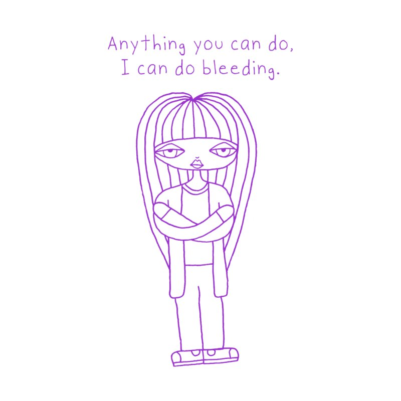 """Anything You Can Do..."" (Purple) Women's T-Shirt by SunnyGrrrl's Merch For Misfits"