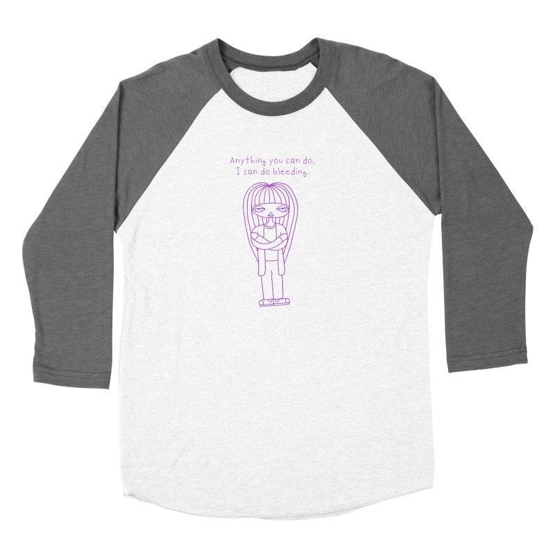"""Anything You Can Do..."" (Purple) Women's Longsleeve T-Shirt by SunnyGrrrl's Merch For Misfits"