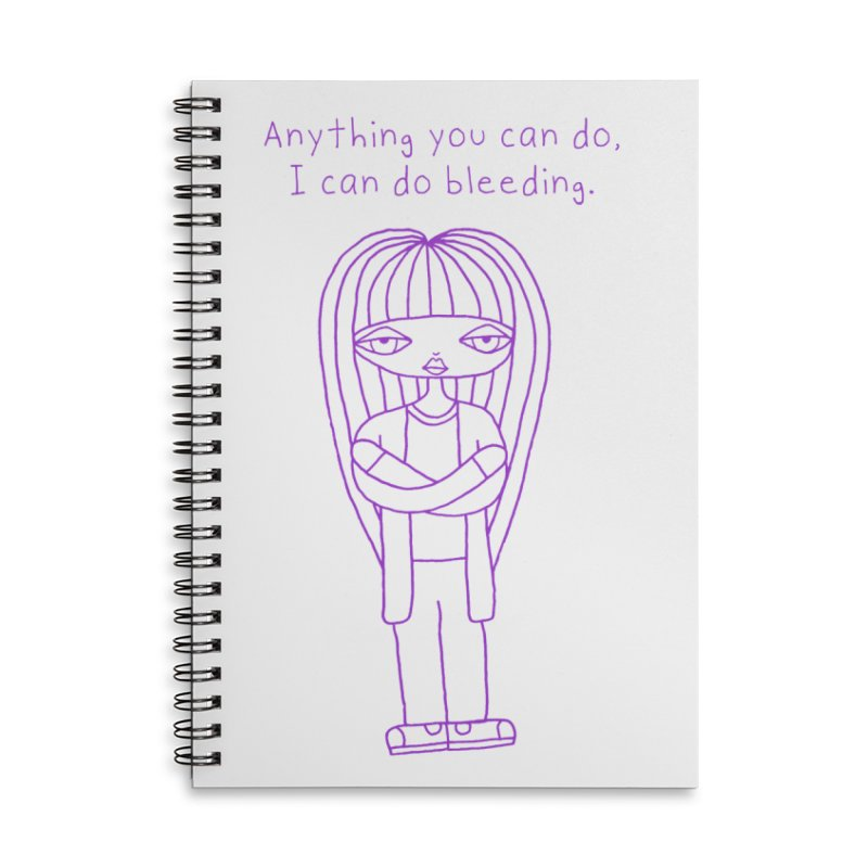 """Anything You Can Do..."" (Purple) Accessories Notebook by SunnyGrrrl's Merch For Misfits"