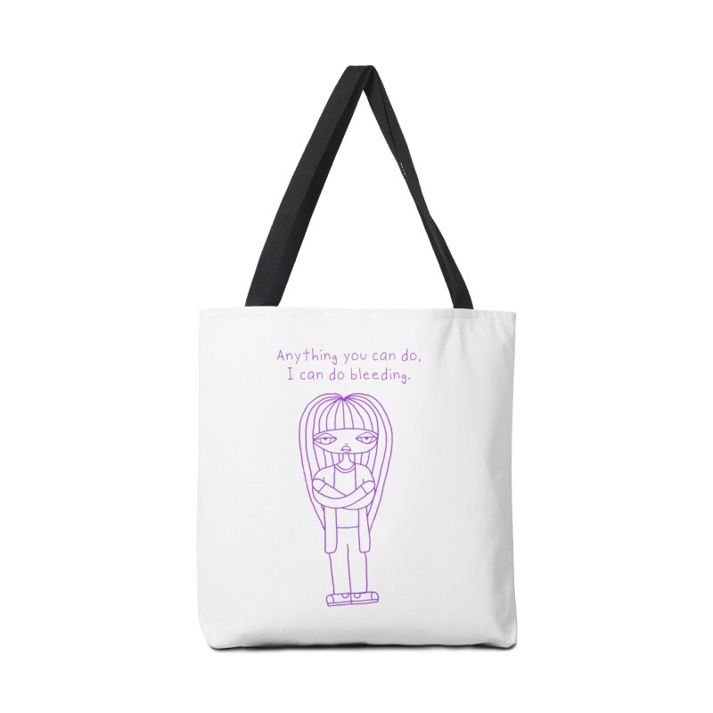 """""""Anything You Can Do..."""" (Purple) Accessories Bag by SunnyGrrrl's Merch For Misfits"""