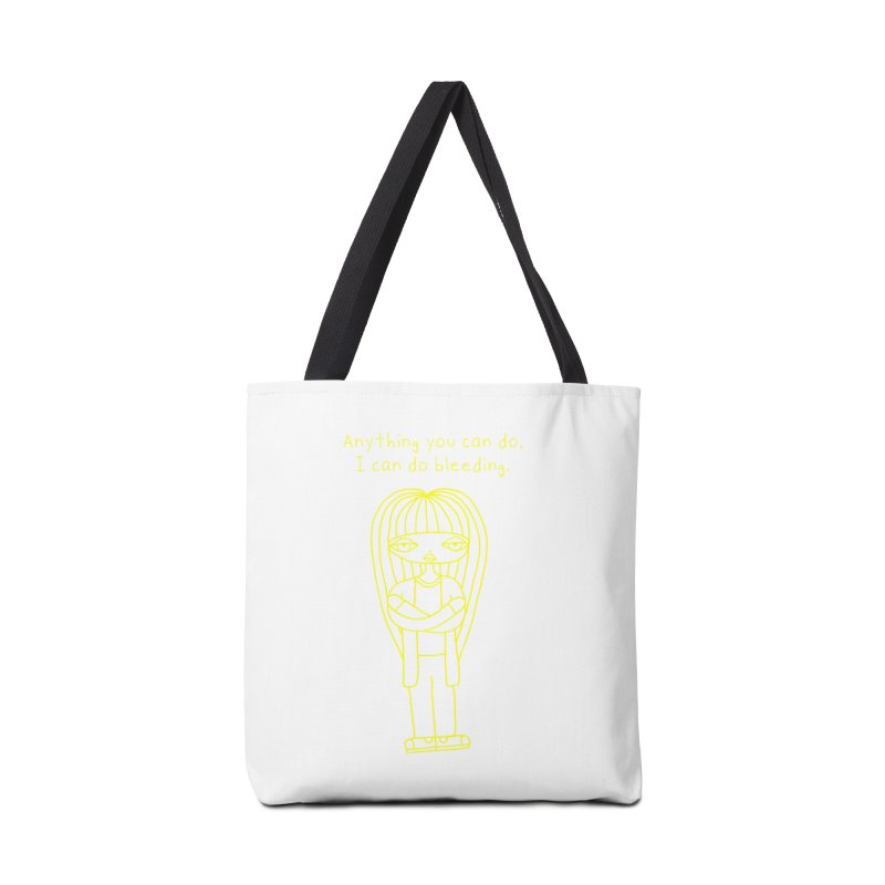 """Anything You Can Do..."" (Yellow) Accessories Bag by SunnyGrrrl's Merch For Misfits"