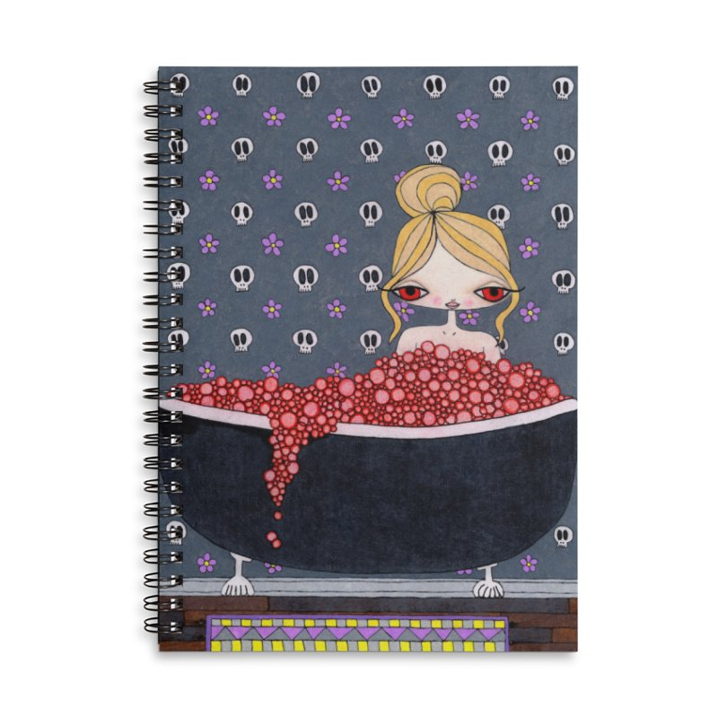Bathing In The Blood Of My Enemies Accessories Notebook by SunnyGrrrl's Merch For Misfits