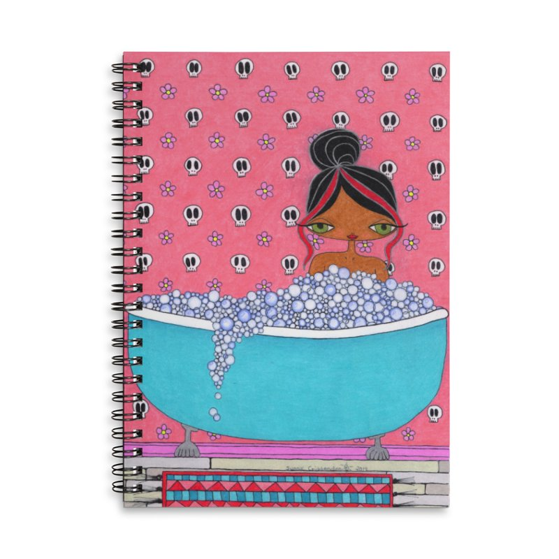Bubble Bath Accessories Notebook by SunnyGrrrl's Merch For Misfits