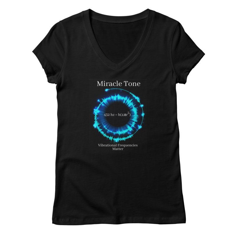 Miracle Tone Equation Women's V-Neck by Be A Blessing Enterprises' Artist Shop - Putting F