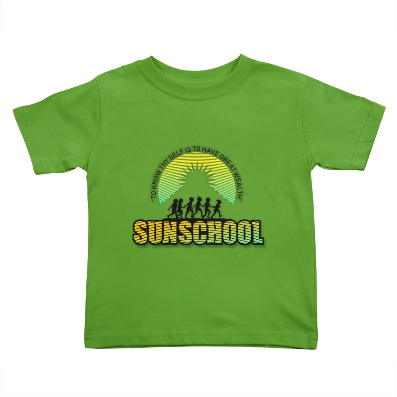 Sunschool Themed Products Kids Toddler T-Shirt by Be A Blessing Enterprises' Artist Shop - Putting F