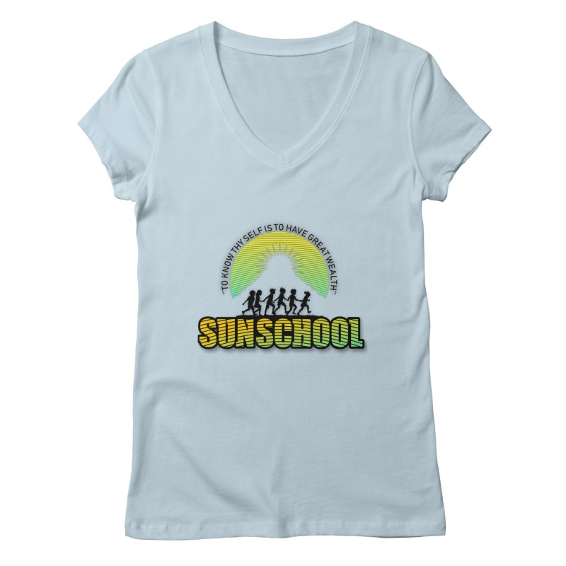 Sunschool Themed Products Women's V-Neck by Be A Blessing Enterprises' Artist Shop - Putting F