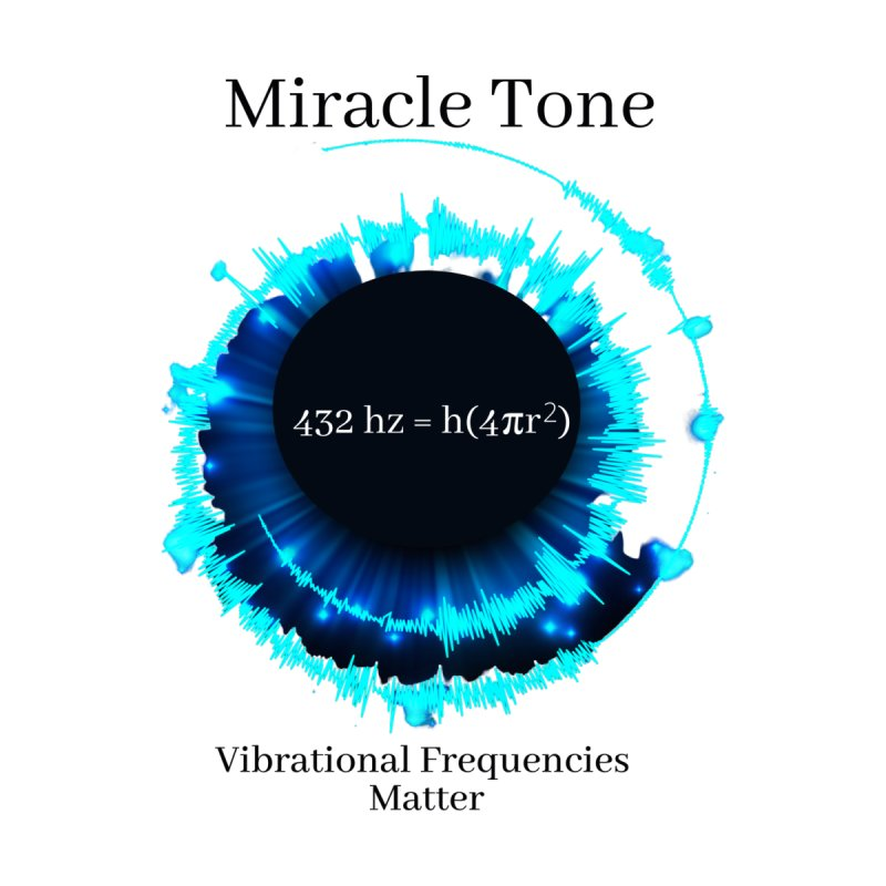 Miracle Tone Equation - White Background Men's T-Shirt by Be A Blessing Enterprises' Artist Shop - Putting F