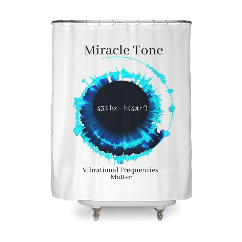Miracle Tone Equation - White Background Home Shower Curtain by Be A Blessing Enterprises' Artist Shop - Putting F