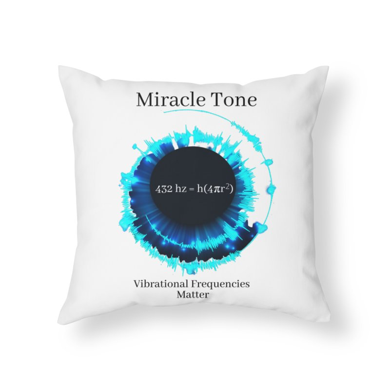 Miracle Tone Equation - White Background Home Throw Pillow by Be A Blessing Enterprises' Artist Shop - Putting F