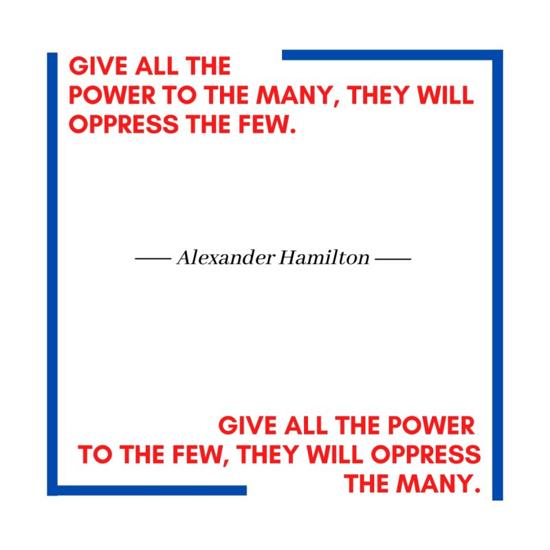 Alexander Hamilton Quote - Red, White & Blue Men's Tank by Be A Blessing Enterprises' Artist Shop - Putting F
