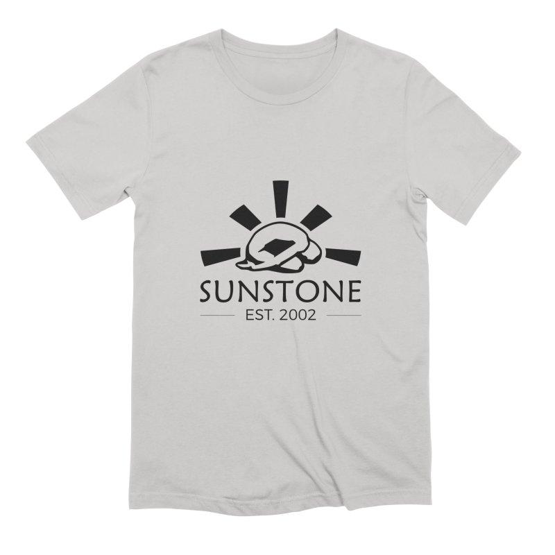Sunstone 2002 - black ink Men's Extra Soft T-Shirt by sunstoneFIT's Shop