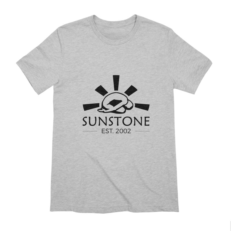 Sunstone 2002 - black ink Men's Extra Soft T-Shirt by sunstoneFIT's Shop