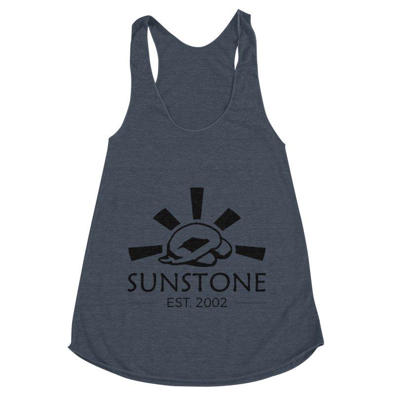 Sunstone 2002 - black ink Women's Racerback Triblend Tank by sunstoneFIT's Shop