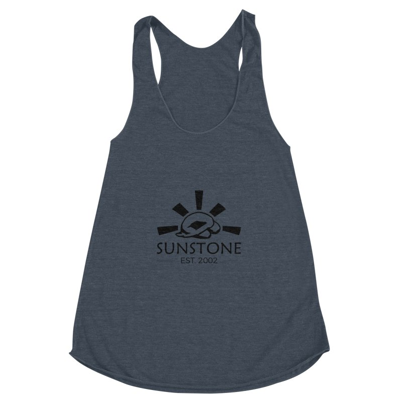 Sunstone 2002 - black ink Women's Racerback Triblend Tank by sunstoneFIT's Shop