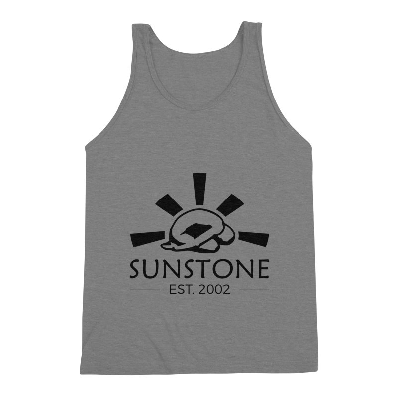 Sunstone 2002 - black ink Men's Triblend Tank by sunstoneFIT's Shop