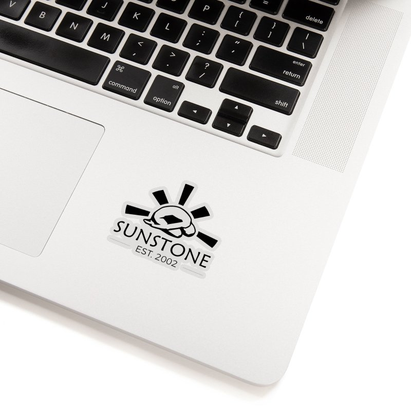 Sunstone 2002 - black ink Accessories Sticker by sunstoneFIT's Shop