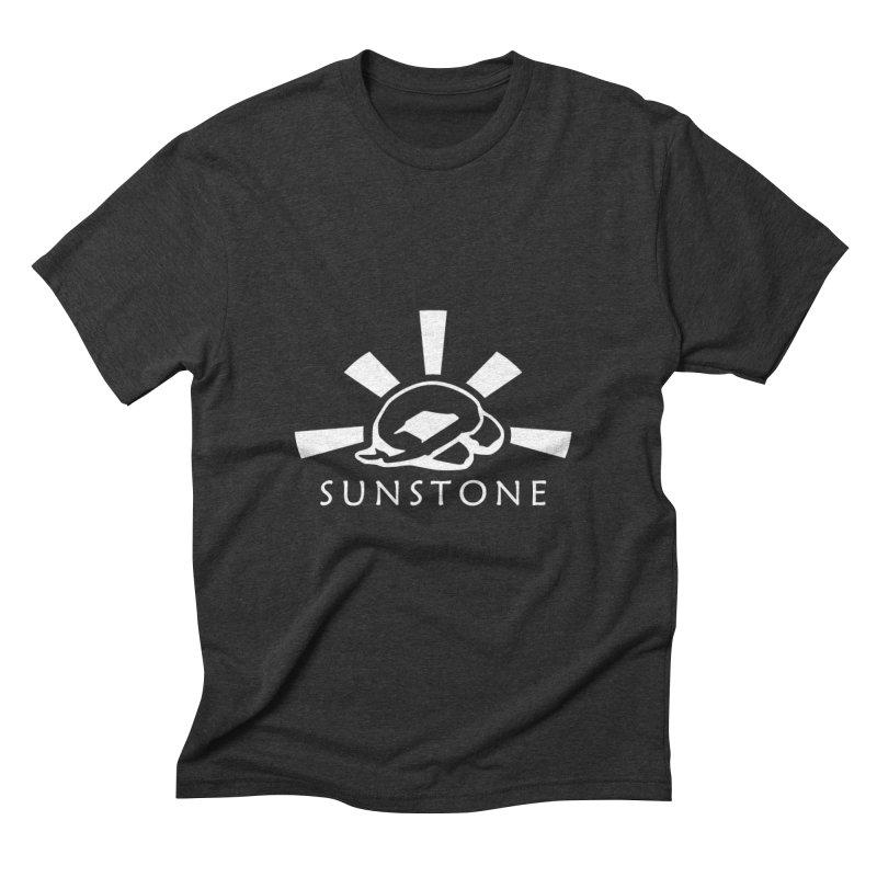 Sunstone Logo - white ink Men's Triblend T-Shirt by sunstoneFIT's Shop
