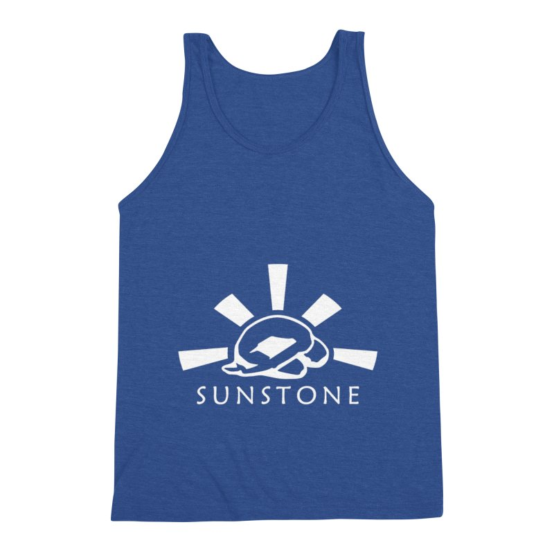 Sunstone Logo - white ink Men's Triblend Tank by sunstoneFIT's Shop