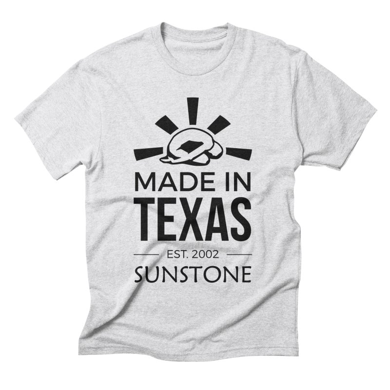 Made in Texas - Black Ink Men's T-Shirt by sunstoneFIT's Shop