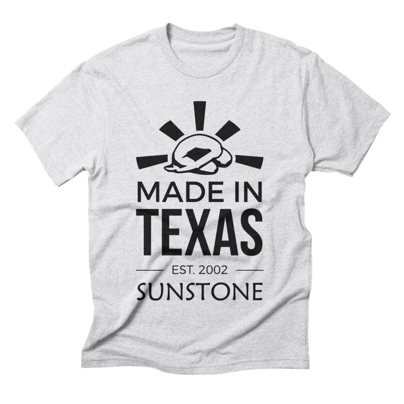 Made in Texas - Black Ink Men's Triblend T-Shirt by sunstoneFIT's Shop