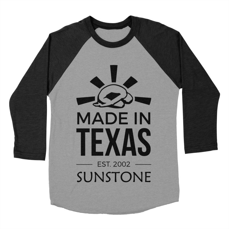 Made in Texas - Black Ink Women's Baseball Triblend Longsleeve T-Shirt by sunstoneFIT's Shop