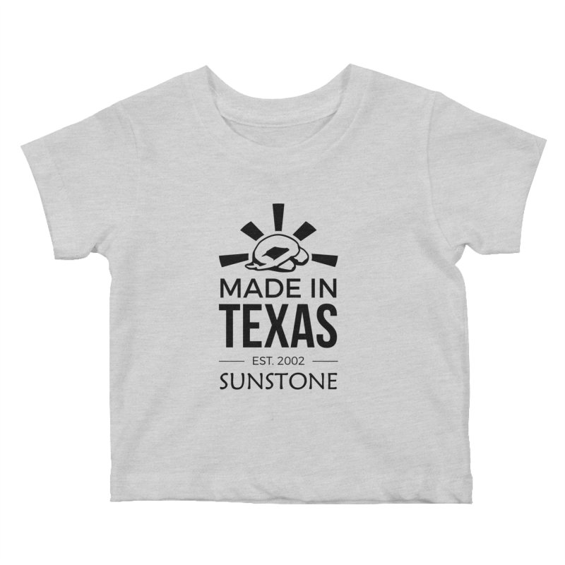 Made in Texas - Black Ink Kids Baby T-Shirt by sunstoneFIT's Shop