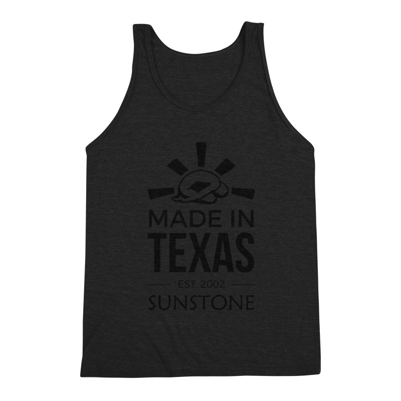 Made in Texas - Black Ink Men's Triblend Tank by sunstoneFIT's Shop