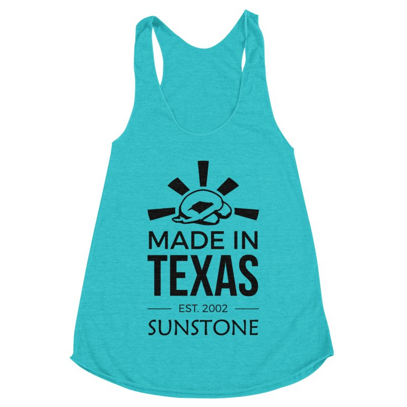 Made in Texas - Black Ink Women's Racerback Triblend Tank by sunstoneFIT's Shop
