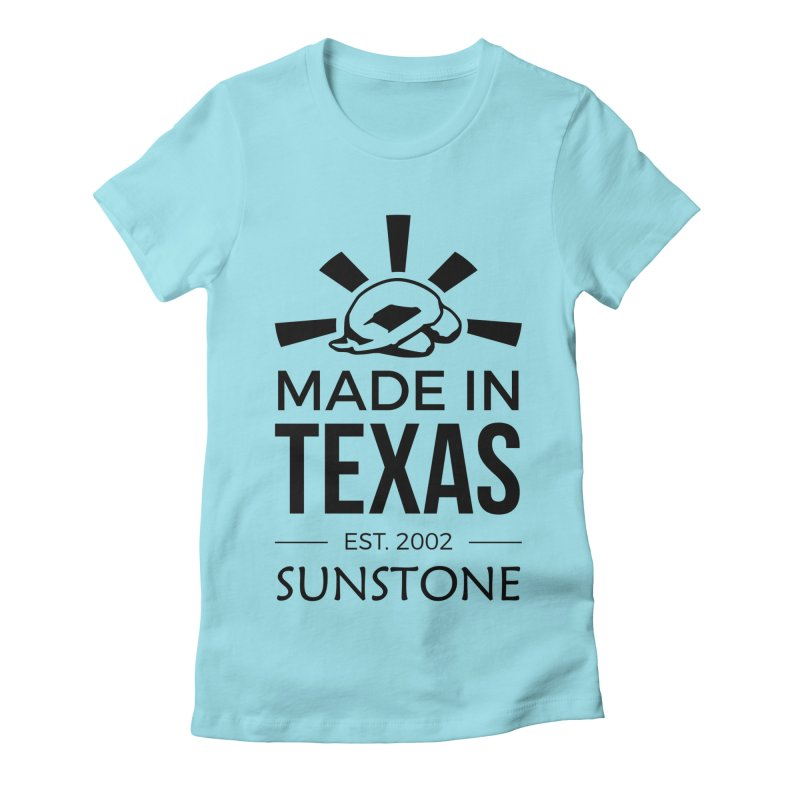 Made in Texas - Black Ink Women's Fitted T-Shirt by sunstoneFIT's Shop