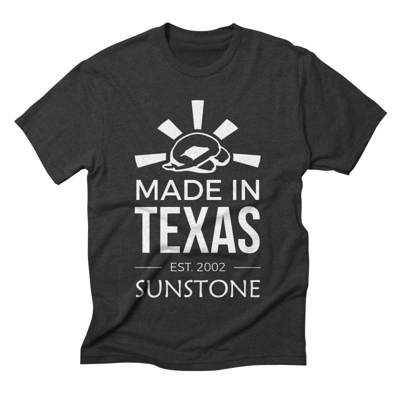 Made In Texas - White Ink Men's Triblend T-Shirt by sunstoneFIT's Shop