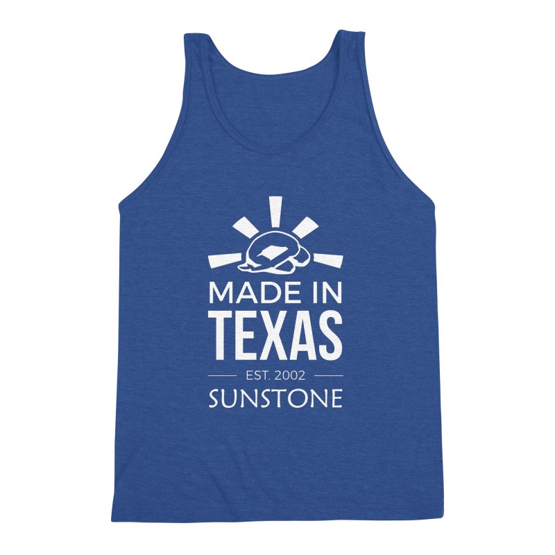 Made In Texas - White Ink Men's Triblend Tank by sunstoneFIT's Shop