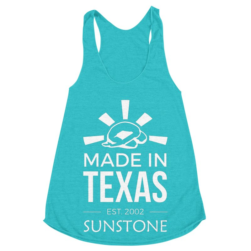 Made In Texas - White Ink Women's Racerback Triblend Tank by sunstoneFIT's Shop