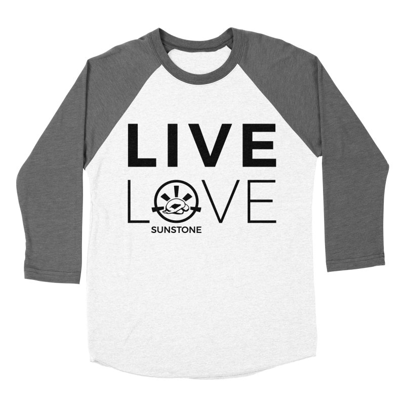 Live Love - Black Ink in Men's Baseball Triblend Longsleeve T-Shirt Tri-Grey Sleeves by sunstoneFIT's Shop